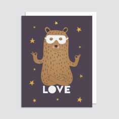 LOVE card with white envelope (5 pack)