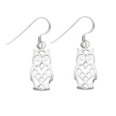 Owl silver earrings