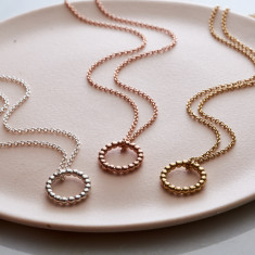 Mini Bead Circle Necklace