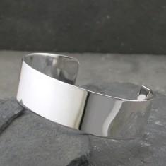 Ladies' Silver Roman Servus Cuff Bracelet