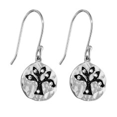 Silver enchanted tree earrings