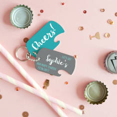 Personalised Hen Party Bottle Opener Keyring