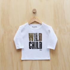 Wild child personalised animal print long sleeve t-shirt