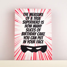 Superhero Cake Birthday Card