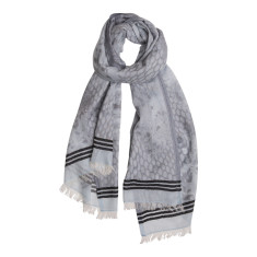 Animal border stripe scarf