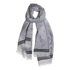 Animal border stripe scarf