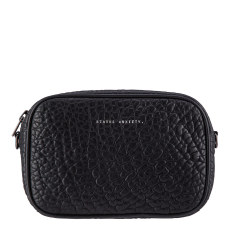 Plunder leather bag in black bubble