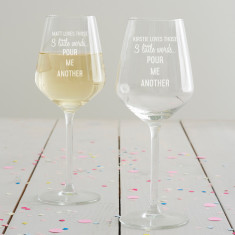 Personalised 'Pour Me Another' Wine Glass