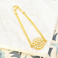 Mosaic Double Chain Bracelet
