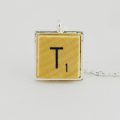 Choose your initial letter silver necklace