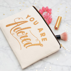 You Are Adored Glitter Pouch