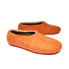 Women's Wool Slippers Orange Treasure