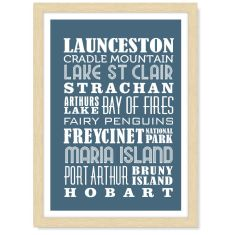 Personalised locations print in portrait (own colour)