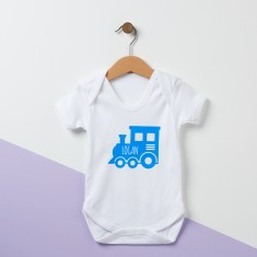 Personalised Train Baby Suit