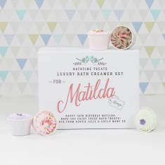 Personalised bath creamer gift set