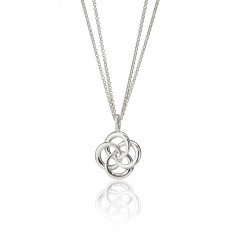 Love Knot Double Chain Necklace