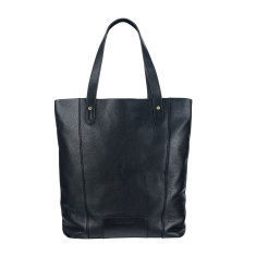 Superconscious leather bag in black
