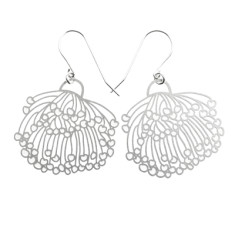 Stainless steel gum blossom earrings (medium)