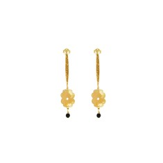Beleza Long Hanging Earrings in 18 KT Yellow Gold Plate