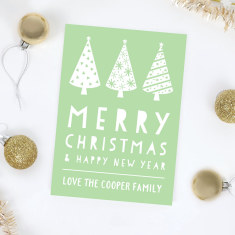 Personalised Trees Christmas Card - 4 Pack