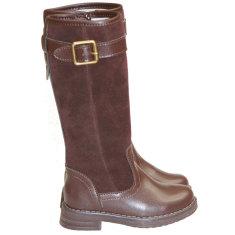 Girls' equestrian style boots in dark brown