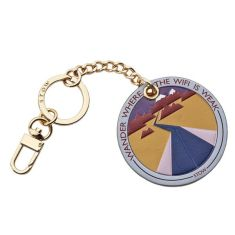 Leather Patch Keyring