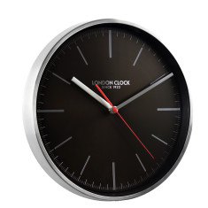 London Clock Company Glide black silent sweep wall clock
