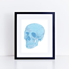 Skull security envelope limited edition fine art giclee print