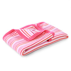 Rainbow stripe cotton baby blanket (various colours)