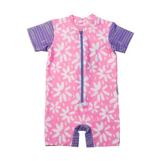 Baby short sleeve sunsuit in Summer Flowers Hollywood