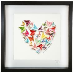 Love Heart Multicolour Framed Artwork with Personalized Message