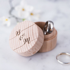 Personalised calligraphy ring box