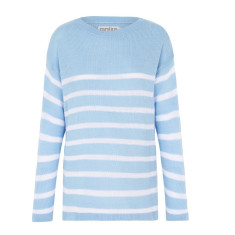 Striped Stephanie Sweater in Sky Blue