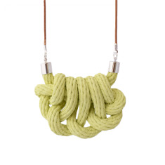 Beachcomber knot necklace in limonata