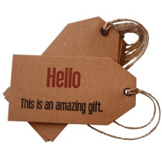 Hello this is an amazing gift Christmas gift tags (set of 6)