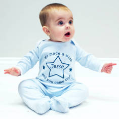Personalised Wish Upon A Star Baby Onesie