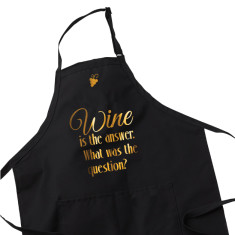 Wine Lover Apron - Wine is the answer