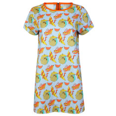 Banana Print T-shirt Dress