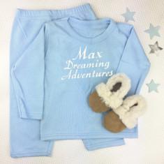 Personalised Pyjamas and Sheepskin Slippers