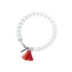 Bamboo red tassel bracelet