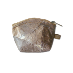 Eco leaf coin purse in natural