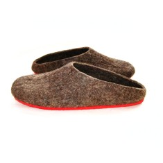 Women's eco felt mules (various sole colours)