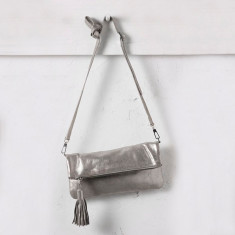 Carolina Clutch in Silver Metallic