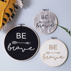 Personalised Be Brave Wall Art