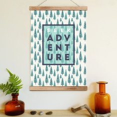Seek adventure (ready to hang poster)
