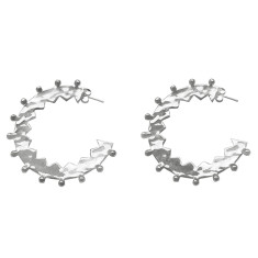 Maya large hoop earrings in sterling silver