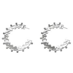 Maya large hoop earrings in sterling silver
