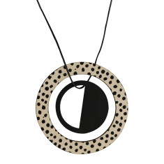Pendant in black with spots