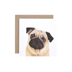 Pug Greeting Card (pack of 5)