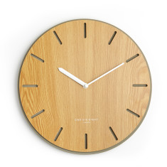 Gabriel Silent Concrete & Wood Wall Clock